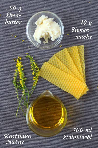 Die Heilpflanze Steinklee kann mit ihren Cumarinen Venenerkrankungen, Krampfadern, Hämorrhoiden und vieles mehr lindern. Probiere es doch mal mit einer selbstgemachten Salbe.