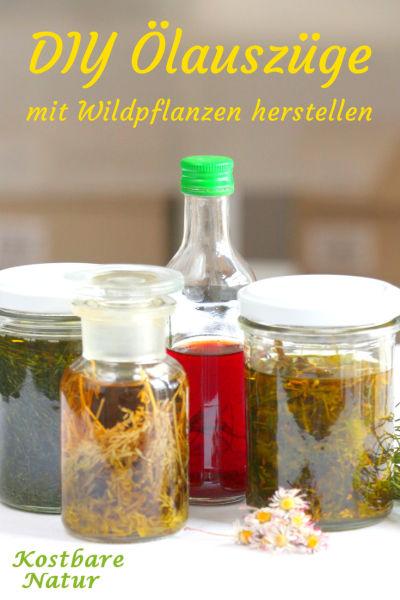 Mit deinen liebsten Heilpflanzen und Wildkräutern kannst du ganz einfach einen Ölauszug herstellen und für Massagen, Salben oder Lotions weiter verwenden.