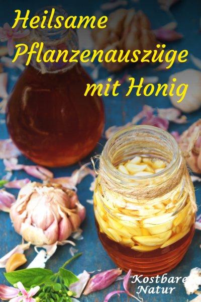 Nutze Honig als Alternative zu Alkoholtinkturen, um gesunde Wirkstoffe von Heilkräutern haltbar zu machen.
