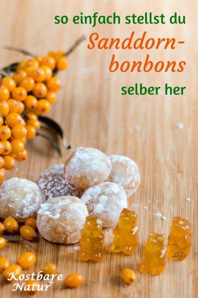 Leckere Bonbons aus Sanddornsaft zubereiten - so einfach stellst du fruchtige Naschereien selber her.