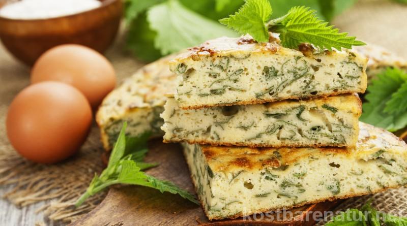 Verwende junge Brennnesselblätter für einen einfachen Kuchen. Frisch verarbeitet einfach köstlich und gesund!
