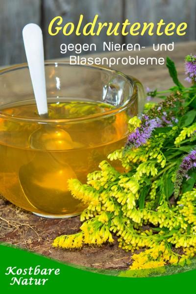 Die Goldrute ist nicht nur schön anzuschauen, sondern kann als Tee auch verschiedene natürlich Harnwegsinfektionen lindern.