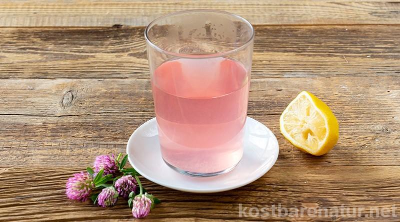 Mit den rosa Blüten des Rotklees lässt sich im Handumdrehen eine aufregende Limonade mit Farbwechsel zaubern, die Kinderaugen strahlen lässt!