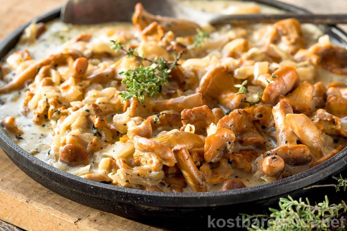 Pfifferlinge sind zwischen Juni und November sehr einfach zu sammeln. Sie geben Saucen ein unverwechselbares Aroma und schmecken köstlich als Beilage.